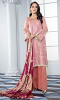 Embroidered Massouri Front Embroidered Massouri Back Embroidered Massouri Sleeves Embroidered Front, Back & Sleeves Patch Jamawar Dupatta Jamawar Trouser