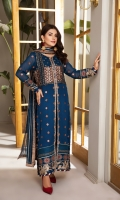 Embroidered Chiffon Front Embroidered Chiffon Back Embroidered Chiffon Sleeves Embroidered Chiffon Front (2) + Back (2) + Sleeves (2) Patch Embroidered Chiffon Dupatta Embroidered Dupatta Patti Embroidered Trouser Patch Dyed Grip Trouser