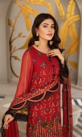 Embroidered Chiffon Front Embroidered Chiffon Back Embroidered Chiffon Sleeves Embroidered Chiffon Front + Back + Sleeves Patch Embroidered Chiffon Dupatta Dyed Grip Trouser