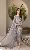 Embroidered Chiffon Front Embroidered Chiffon Back Embroidered Chiffon Sleeves Embroidered Front + Back + Sleeves Patch Embroidered Chiffon Dupatta Embroidered Dupatta Patti Dyed Raw Silk Trouser