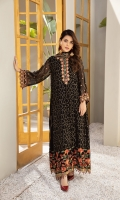 Embroidered Chiffon Front Embroidered Chiffon Back Embroidered Chiffon Sleeves Embroidered Chiffon Front + Back + Sleeves + Neck Patch Embroidered Chiffon Dupatta Dyed Raw Silk Trouser