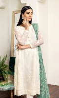 Embroidered Chiffon Front Embroidered Chiffon Back Embroidered Chiffon Sleeves Embroidered Chiffon Front + Back Patch Embroidered Neckline Patch Embroidered Chiffon Dupatta Embroidered Dupatta Patch Dyed Raw Silk Trouser