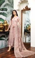 Embroidered Chiffon Front Embroidered Chiffon Back Embroidered Chiffon Front Back Body Embroidered Chiffon Sleeves Embroidered Chiffon Front + Back Patch Embroidered Neckline Patch Embroidered Organza Dupatta Dyed Raw Silk Trouser