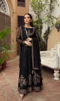 Embroidered Chiffon Front Kali Embroidered Chiffon Back Kali Embroidered Chiffon Front Body Embroidered Chiffon Back Body Embroidered Chiffon Sleeves Embroidered Chiffon Belt Patch Embroidered Chiffon  Front + Back Patch  Embroidered Chiffon Dupatta Embroidered Chiffon Dupatta Patch  Dyed Raw Silk Trouser