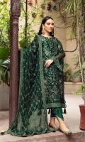 Embroidered Chiffon Front Embroidered Chiffon Back Embroidered Chiffon Side Kali Embroidered Chiffon Front + Back Patch  Embroidered Chiffon Sleeves Embroidered Chiffon Sleeves Patch Embroidered Chiffon Dupatta Embroidered  Chiffon Dupatta Patch Dyed Russian Grip Trouser