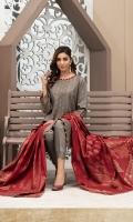 - Khaddar Banarsi Broshia Shirt  - Contrast Khaddar Banarsi Broshia Dupatta  - Plain Khaddar Shalwar