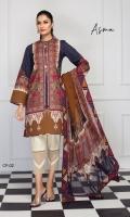 Cambric Cotton Shirt 3m Chiffon Dupatta 2.5m