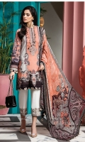 Digital Printed Lawn Shirt Embroidered Neckline Embroidered Sleeve Border Embroidered Neckline Border Digital Printed Chiffon Dupatta Dyed Cotton Cambric Trouser Embroidered  Trouser Borders