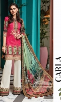 Digital Printed Lawn Shirt Embroidered Neckline Embroidered Front Hem Border Embroidered Sleeve Border Embroidered Neckline Trim Digital Printed Chiffon Dupatta Printed Cotton Cambric Trouser