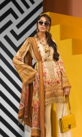 Digital Printed Lawn Shirt Embroidered Neckline Trim Embroidered Shirt Hem Border Digital Printed Chiffon Dupatta Embroidered Trouser Borders Dyed Cotton Cambric Trouser Embroidered Trouser Motifs