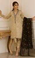 """Old school yet elegant ; this super stunning shirt """"Golden Dust"""" paired with pants from our Eid Collection is sure to turn heads."""
