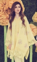 Chic, semi-formal A-line kameez embellished with lace, ruffles, and embroidery.
