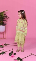 Mint green chikan kurta with fuchsia pink, white and gold hand block prints. Paired with mint chikan pants.