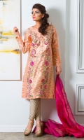 Chic, semi-formal straight Kurta embellished with lace, embroidery and stones.