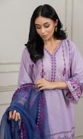 Shirt & Dupatta Shirt Material: Lawn Dupatta Material: Organza Ready to Wear Embroidery