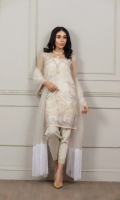 Full Suit Material: Net Ready to Wear Embroidery