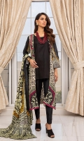 Shirt: Printed Lawn (3 meters) Dupatta: Printed Lawn (2.5 meters) Trouser: Dyed Cambric (2.5 meters)