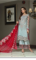 Shirt: - Luxury Embroidered and Handwork Chiffon Shirt: - Luxury Embroidered Chiffon Trouser: - Dyed with Embroidered