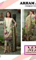 3pc embroidered lawn suit with chiffon dupatta