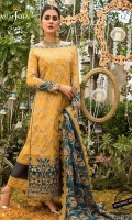Embroidered raw silk front (W=26