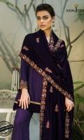 3.5 meter Raw Silk shirt 1 meter embroidered border 1 meter embroidered border 2.5 meter embroidered Velvet shawl 2.5 meter trouser