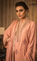 Embroidered front and back Embroidered sleeves 2.5 meter dupatta 2 meter and 30 inches embroidered border 30 inches embroidered border 2.5 meter trouser