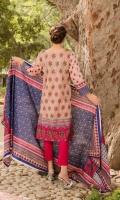 Shirt: 3.0 Meter Emb Lawn  2.5 Meter Printed Lawn Dupatta 2.5 Meter Dyed Trouser
