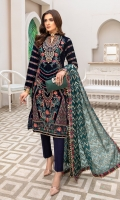 Embroidered Neckline patch Front Embroidered Velvet Back Embroidered Velvet Sleeves Embroidered Velvet Ready to wear Embroidered lace Jacquard Duppatta Raw Silk Trouser