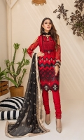 Embroidered Chiffon Front Embroidered Chiffon Back Embroidered Chiffon Sleeves Embroidered Chiffon Dupatta Raw Silk Trouser Extra Embroidered Panel