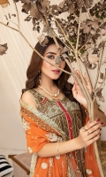 Embroidered Chiffon Front Embroidered Chiffon Back Embroidered Chiffon Sleeves Embroidered Chiffon Dupatta Jamawar Trouser Embroidered Organza patch for front and back