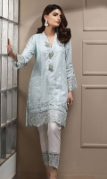 Embroidered Cotton Net Stitched 2 Piece Suit