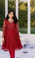 Heavy Sequins Embroidered Chiffon Front 0.82 Yards   Lenght 40″   Width 30″  Embroidered Net Back 0.82 Yards   Lenght 40″   Width 30″  Sequins Embroidered Net Sleeves0.6 yards (Width) * Inner Fabric Included