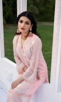 Sequins Embroidered Chiffon Front 1 Yard   Lenght 42″   Width 30″  Sequins Embroidered Chiffon Sleeves0.6 yards (Width) Dyed Chiffon Back1 Yard(Width) * Inner Fabric Included