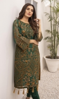 """Heavy Sequins Embroidered Organza Front: 1pcs Sequins Embroidered Organza Sleeves: 0.72yards Dyed Organza Back: 1yard Shirt Length: 40""""+ Inner Fabric Included"""