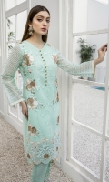 """Heavy Sequins Embroidered Organza Front: 1pcs Sequins Embroidered Organza Sleeves: 0.62yards Dyed Organza Back: 1yard Shirt Length: 40""""+ Inner Fabric Included"""