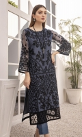 """Heavy Sequins Embroidered Organza Front: 1pcs Sequins Embroidered Organza Sleeves: 0.72yards Embroidered Organza Front Border 0.82yards Dyed Organza Back: 1yard Front Shirt Length: 45""""+ Back Shirt Length: 40""""+ Inner Fabric Included"""
