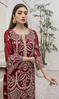 """Sequins Embroidered Chiffon Front 1 yard Sequins Embroidered Chiffon Sleeves 0.62yards Dyed Chiffon back 1.25yards Shirt Length (with border) 43""""+ Inner Fabric Included"""
