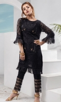 Embroidered Chiffon Stitched 2 Piece Suit