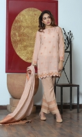 Pieces: 3  Kameez, Shalwar, Dupatta  Banarsi Cotton Kameez with Resham work and Flower Booti Style all over.  Double sided Border Dupatta of Kichha and Zari Work.  Plain Cotton Silk Shalwar.