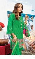 Shirt Front: Dyed Chikankari Lawn Shirt Back: Printed Lawn Sleeves: Dyed Chikankari Lawn Dupatta: Tradional Hand Dyed Bandhani Trouser: Dyed Cotton  EMBROIDERY: Embroidered Chikankari for Front and Sleeves Embroidered Daman for Front