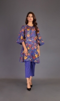 Shirt: Digital Printed Lawn - 2.5 Meter Shalwar: Plain Cambric - 2.5 Meter