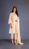 Shirt: Embroidered Swiss Lawn - 2.5 Meter Dupatta: Embroidered Chiffon - 2.5 Meter Shalwar: Plain Cambric - 2.5 Meter