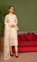 Shirt: Embroidered Khaddi Cotton Net - 3 Meter Dupatta: Embroidered Khaddi Cotton Net - 2.5 Meter