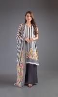 Shirt: Lawn Dupatta: Chiffon Shalwar: Cambric