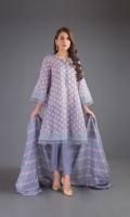 Shirt: Lawn Dupatta: Lawn Shalwar: Cambric
