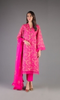 Shirt: Embroidered Chiffon - 2.5 Meter Dupatta: Embroidered Chiffon - 2.5 Meter
