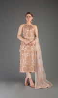 Shirt: Embroidered Net - 1 Meter Back: Embroidered Net - 1.5 Meter Dupatta: Embroidered Net - 2.5 Meter