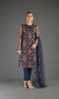 Shirt: Embroidered Net - 2.5 Meter Dupatta: Embroidered Net - 2.5 Meter