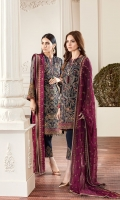 Embroidered Front Panel Embroidered Side Panel Embroidered Sleeves Plain Back Embroidered Sleeves Patch Embroidered Front Patch Embroidered Back Patch Embroidered Trouser Patch Embroidered Dupatta Trousers