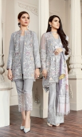 Embroidered Front  Embroidered Sleeves Plain Back Embroidered Sleeves Patch Embroidered Neckline Patch Embroidered Front Patch Embroidered Back Patch Embroidered Trouser Patch Digital Printed Silk Dupatta Trousers